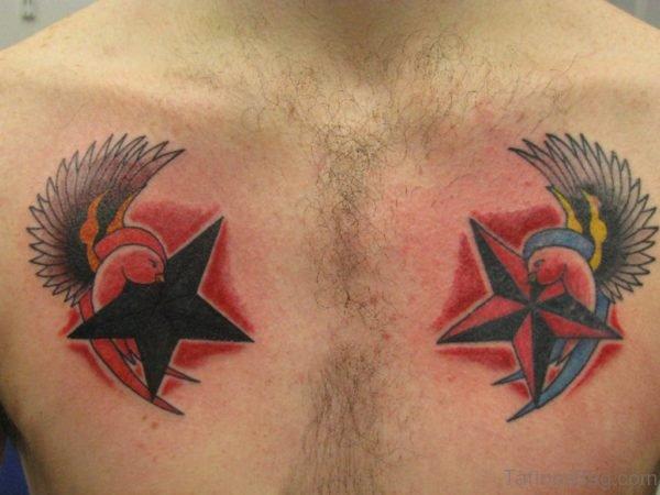 Bird And Star Tattoo
