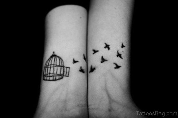 Bird Cage Wrist Tattoo
