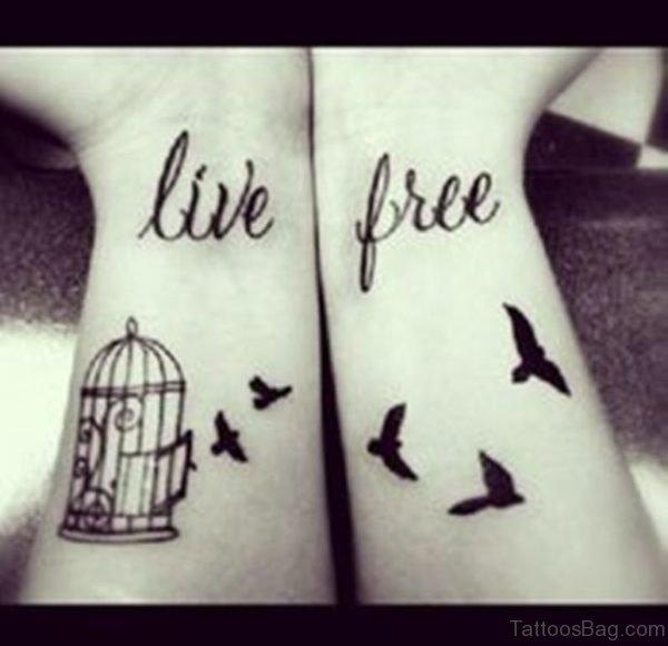 Birdcage Tattoo On Wrist