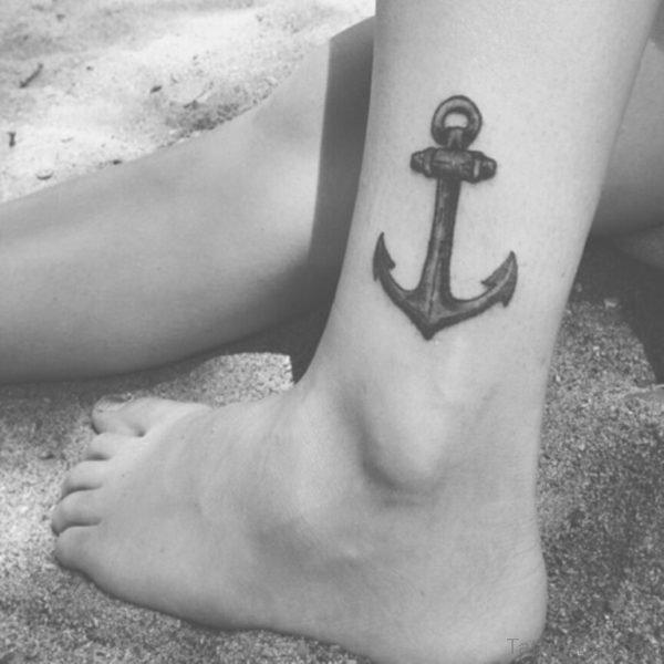 Black Anchor Tattoo Design
