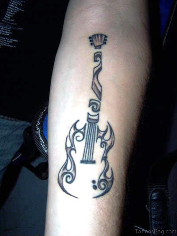 Black And Grey Forearm Tattoo