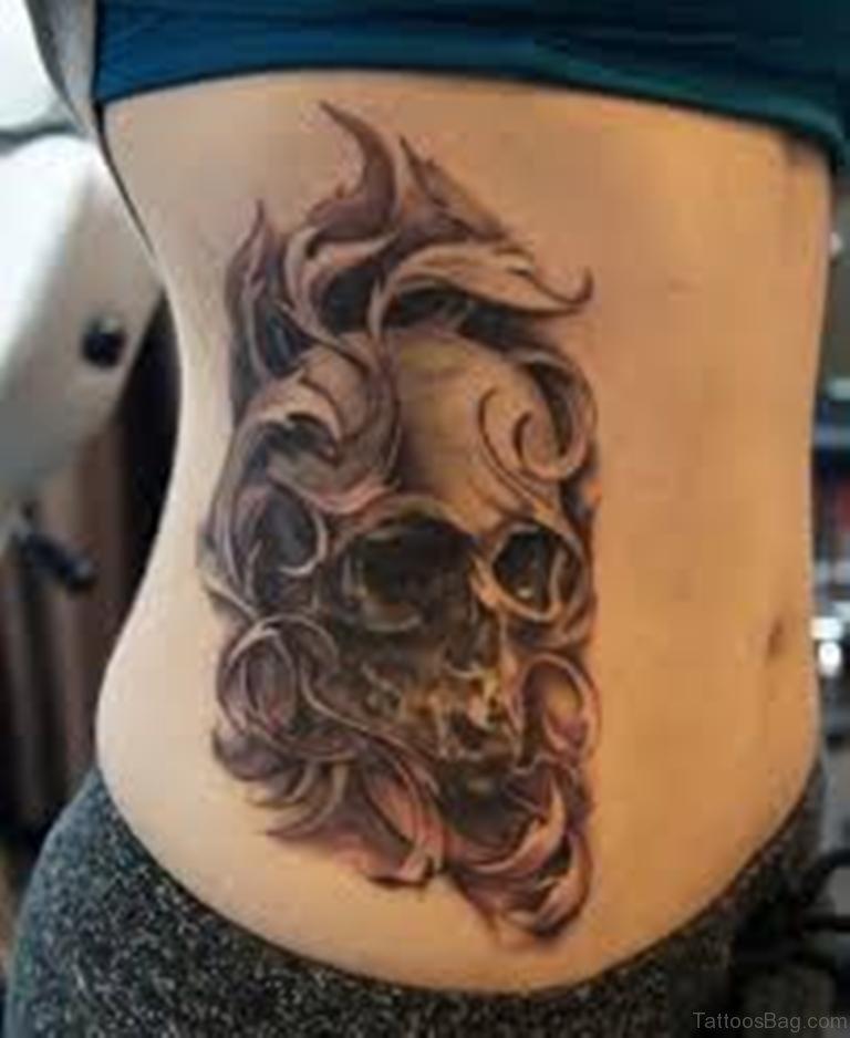 101+ Top Skull Tattoos And Designs For Men & Women   Black And Grey Skull Tattoo Designs