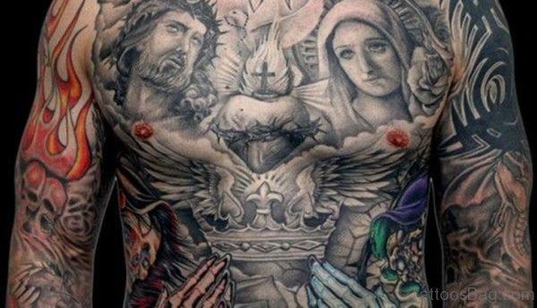 Black And Jesus Tattoo