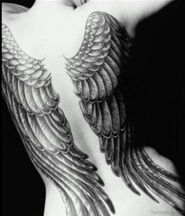 2f840a0b1 84 Amazing Angel Wings Shoulder Tattoos