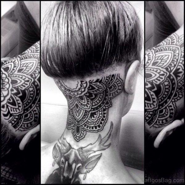 Black And White Henna Tattoo