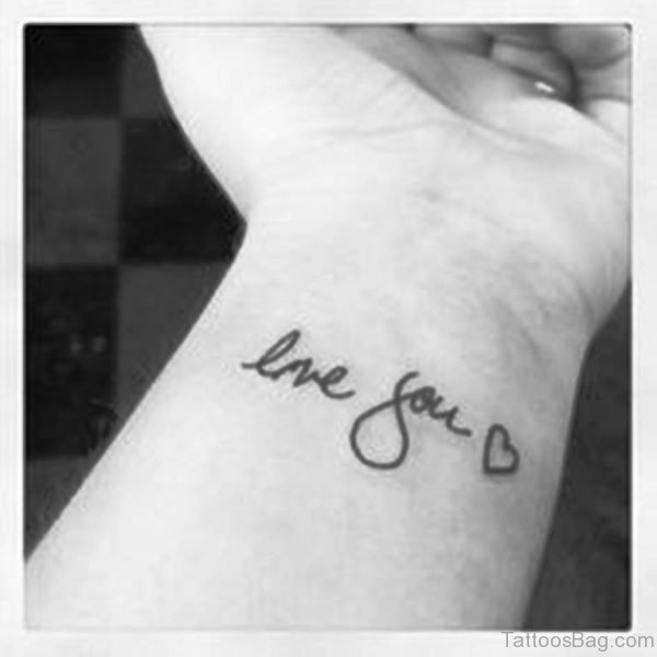 Black And White Love You Tattoo