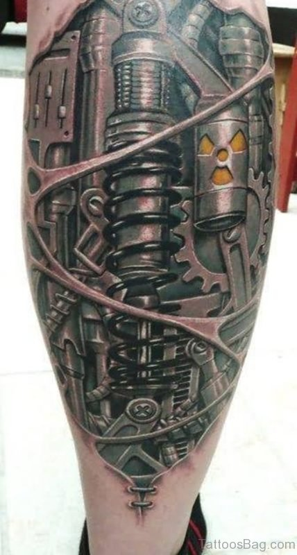 Black Biomechanical Tattoo