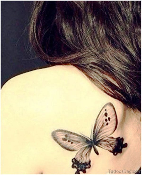 Black Butterfly Designer Tattoo