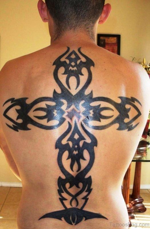 Black Celtic Cross Tattoo Design