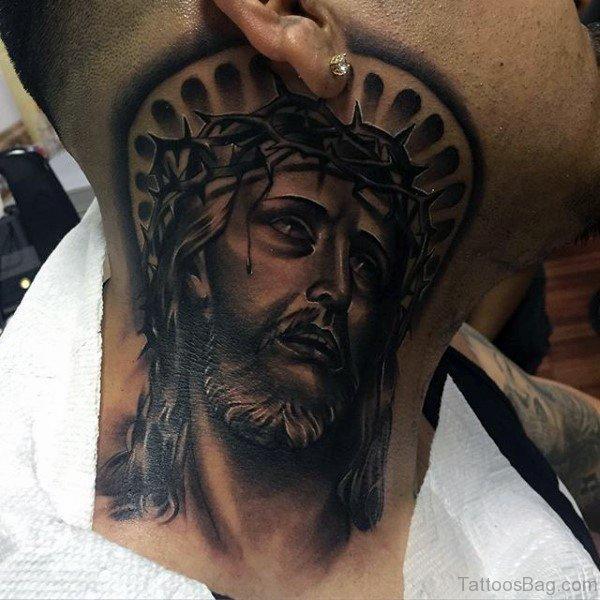 27 spiritual jesus neck tattoo designs for Tattoos of black jesus