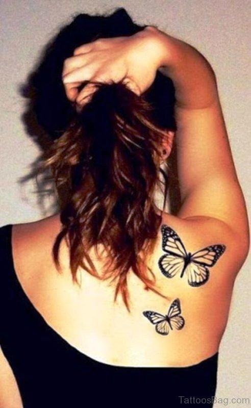 Black Color Shoulder Tattoo Design