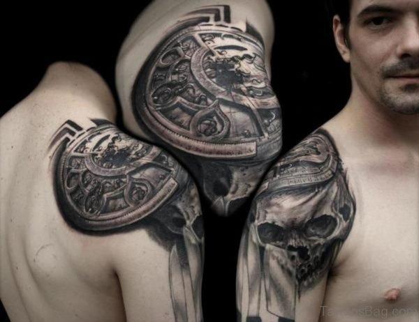 Black Compass Tattoo 1