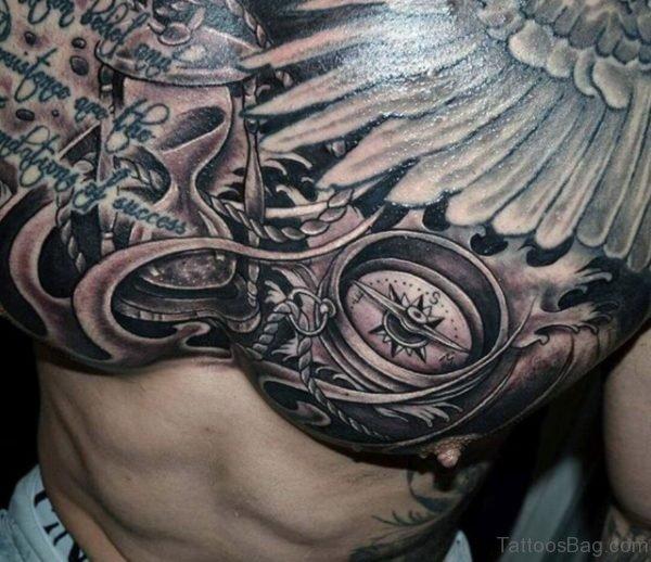 Black Compass Tattoo