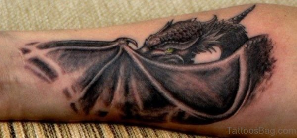 Black Dragon Tattoo On Arm