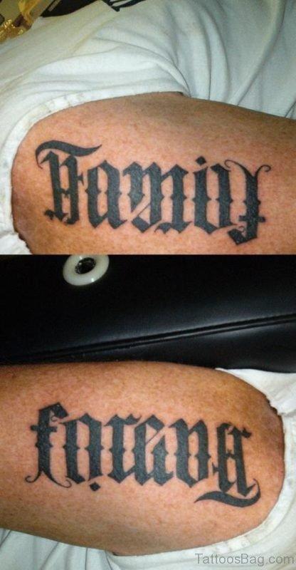 Black Family Tattoo