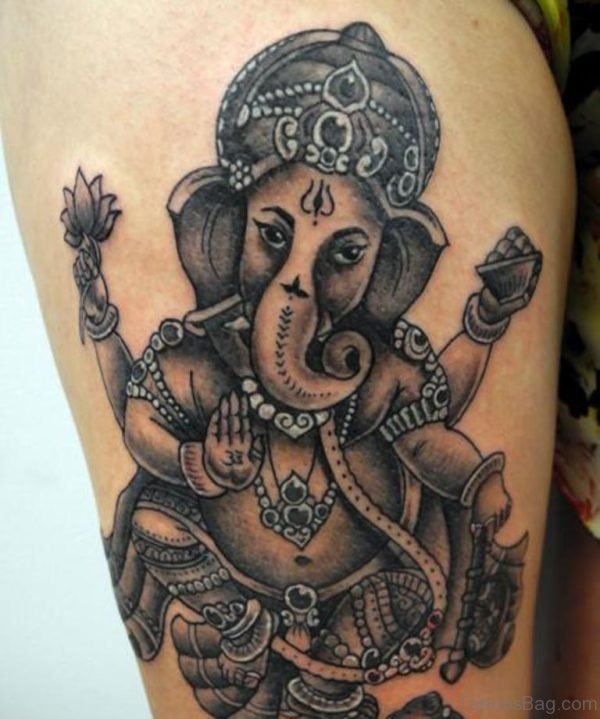 Black Ganesha Tattoo