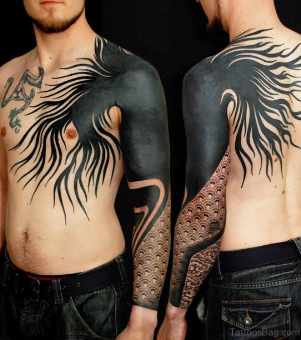 Black Geometric Tattoo Design