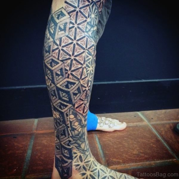 Black Geometric Tattoo