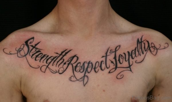 Black Ink Ambigram Tattoo