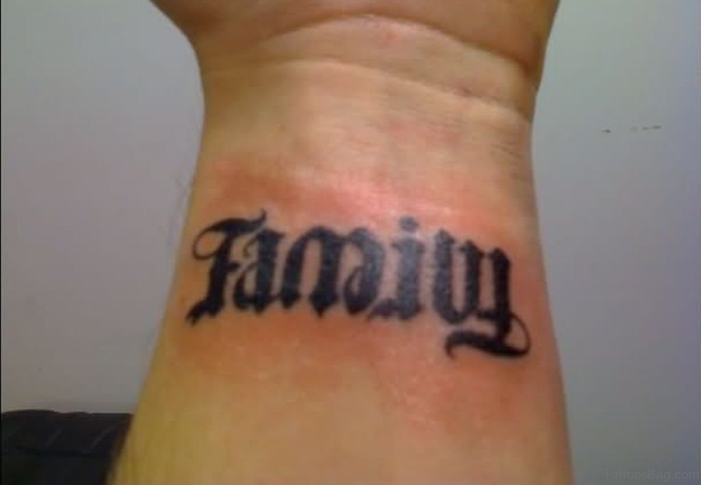 51 pretty family wording tattoos on wrist