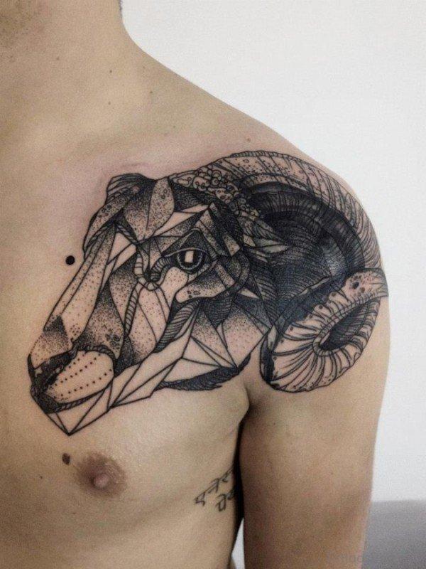 Black Ink Geometric Tattoo Design