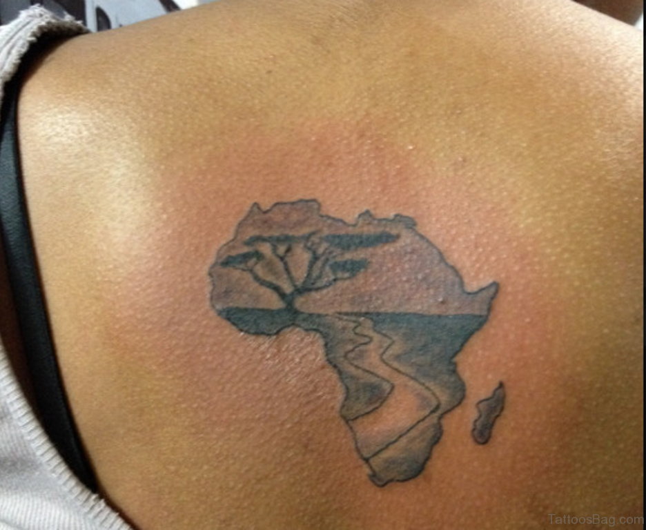 64 african tattoos for back for Black tattoo ink