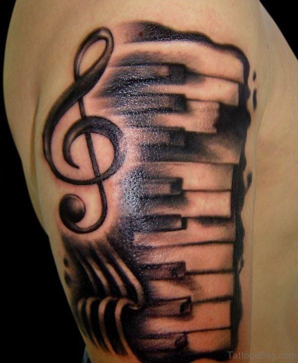 Black Ink Music Tattoo