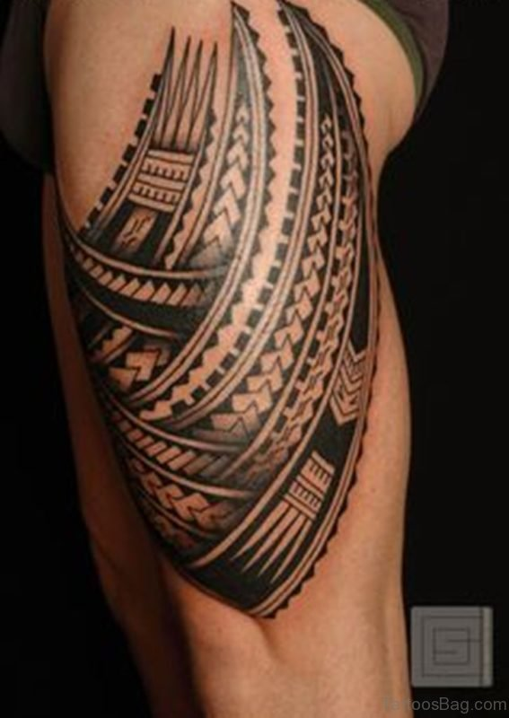 Black Ink Tribal Tattoo