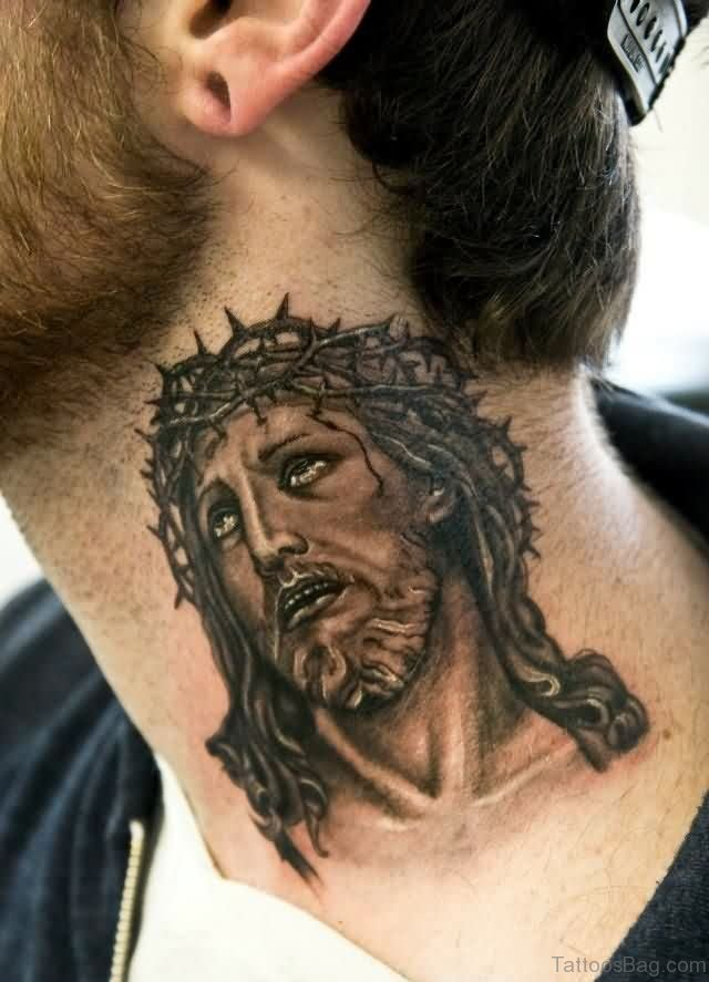 27 Spiritual Jesus Neck Tattoo Designs