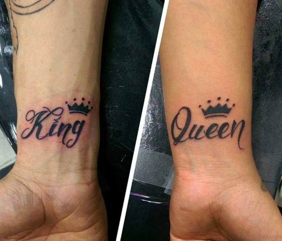 48 King And Queen Tattoos For Wrist