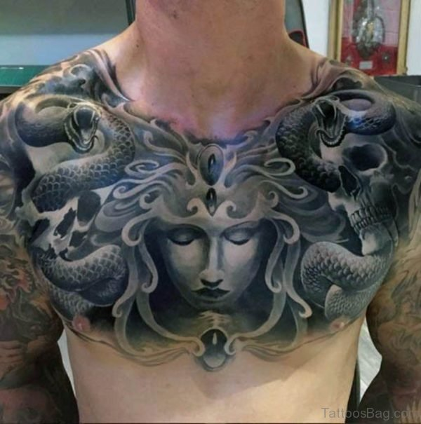 Black Medusa Tattoo