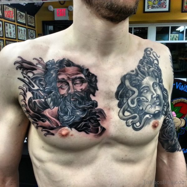 Black Medusa Tattoo Design