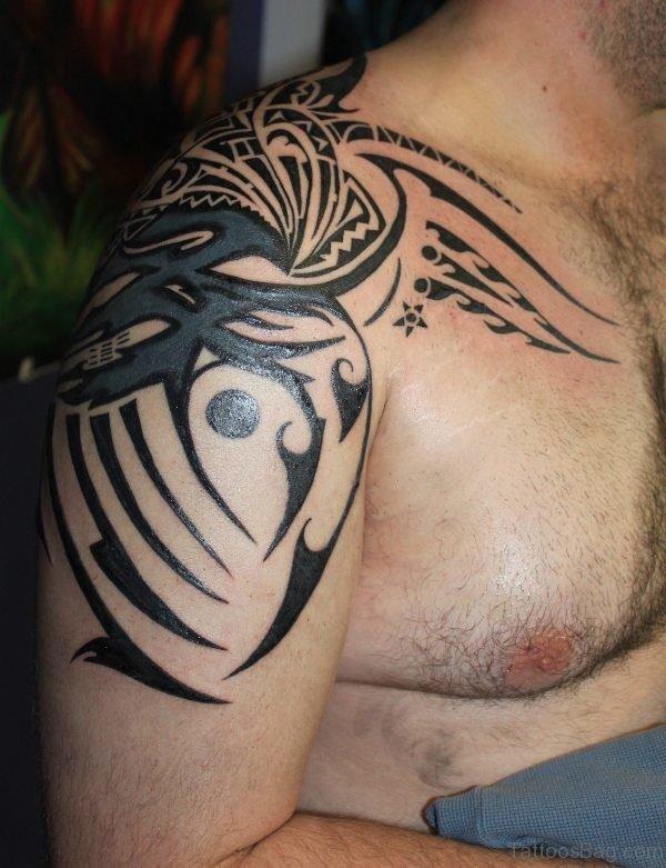 Black Nice Tribal Tattoo
