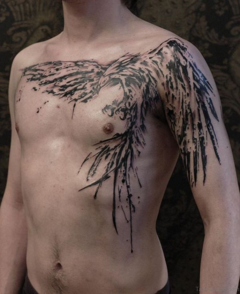 67 Funky Phoenix Tattoos For Chest