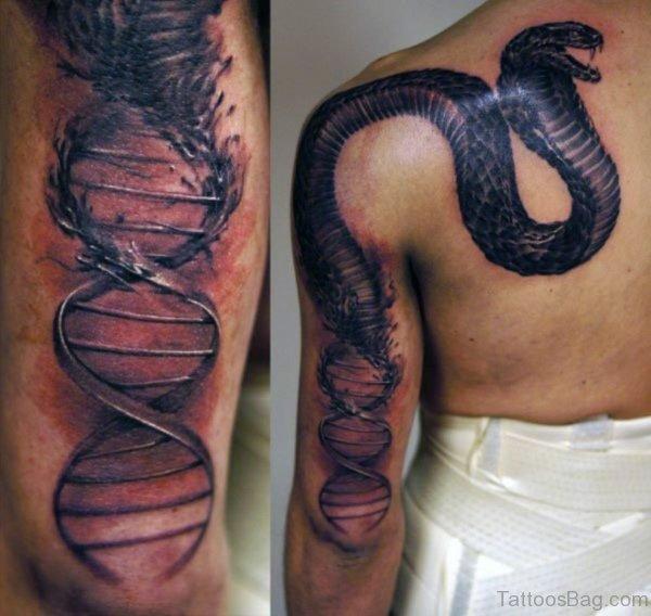 Black Snake Tattoo Design
