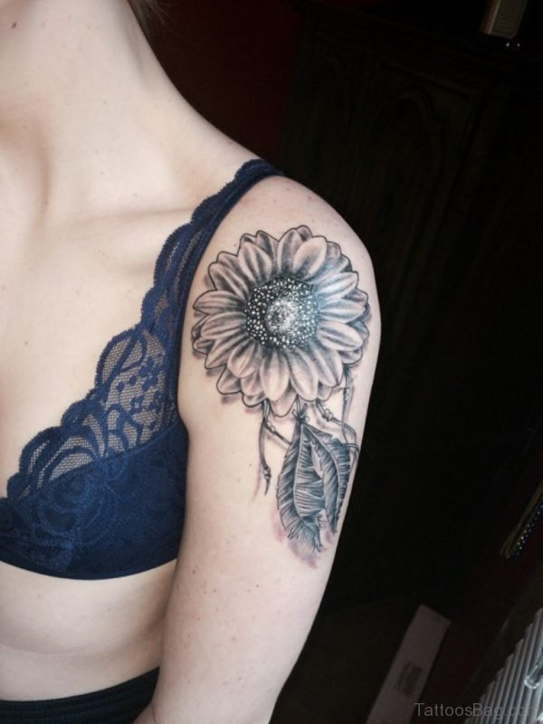 Black Sunflower Tattoo