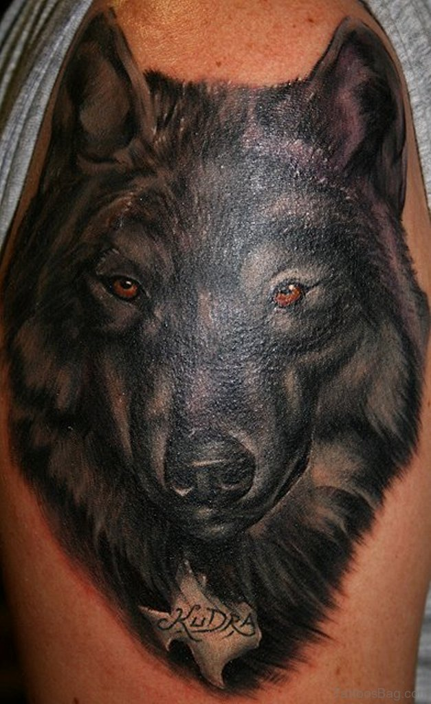 2a4e220cfc24f 50 Amazing Wolf Tattoos For Shoulder