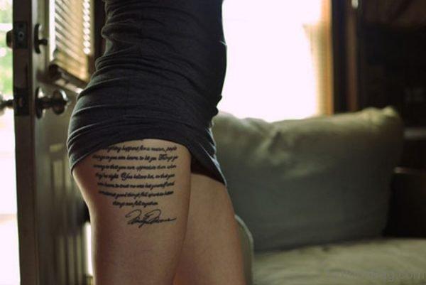 Black Wording Tattoo