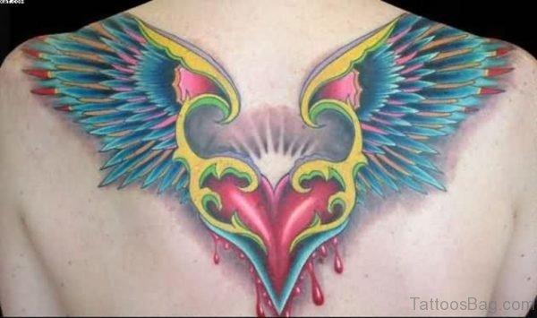 Bleeding Heart With Wings Tattoo