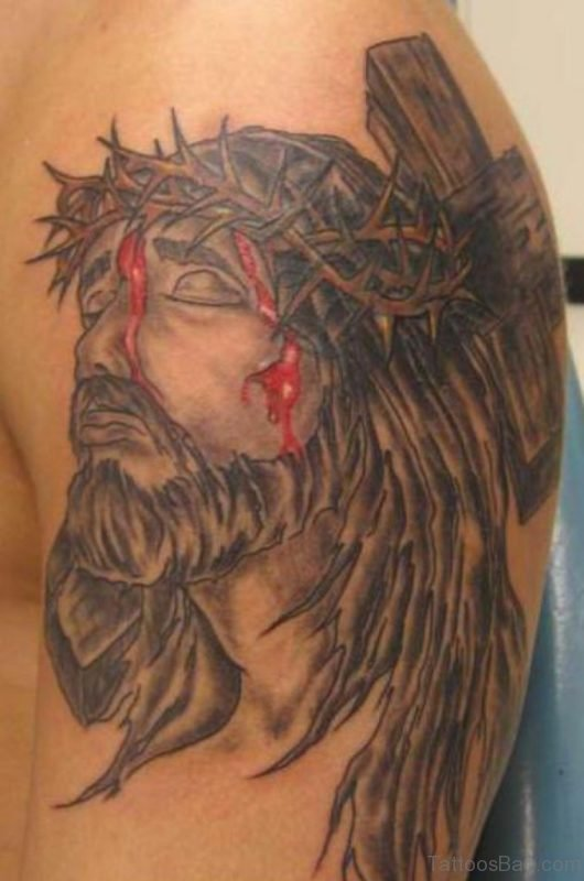Bleeding Jesus Tattoo Design