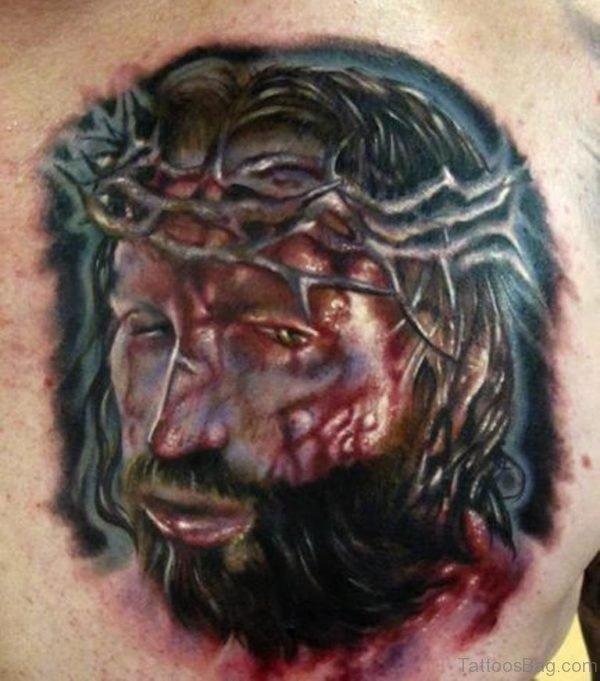 Bloddy And Jesus Tattoo