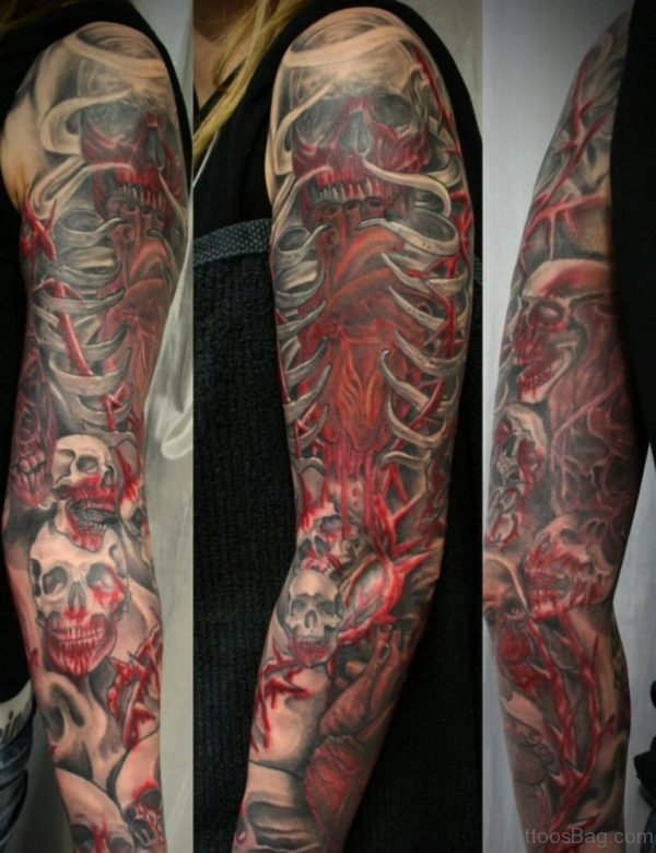 Bloody Skulls Tattoo