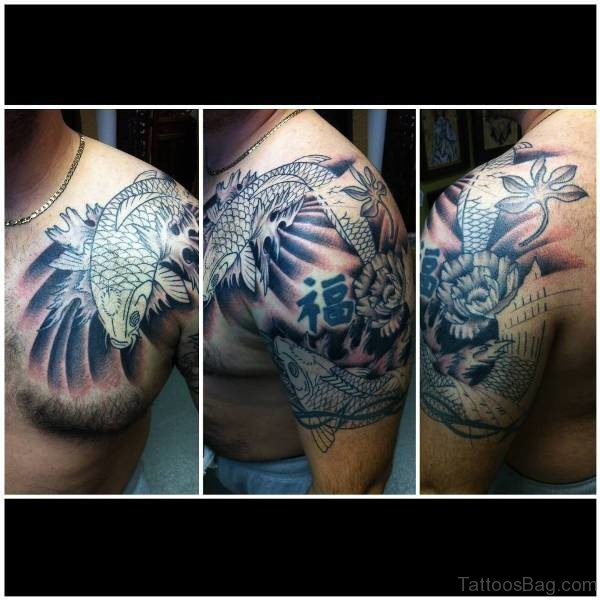 Blue Designer Tattoo