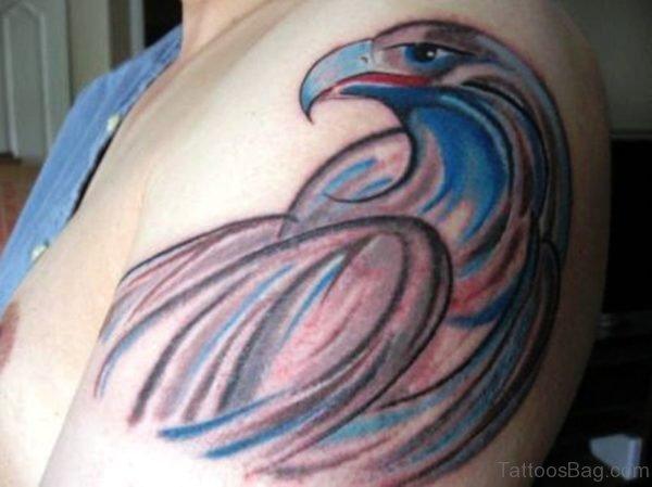 Blue Eagle Tattoo Design