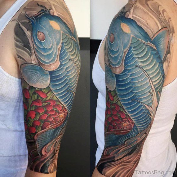 Blue Japanese Tattoo