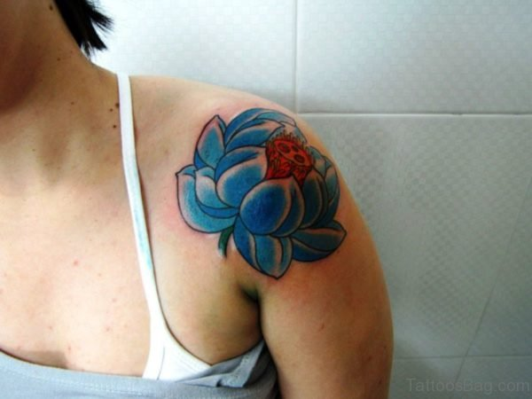 Blue Lotus Designer Tattoo