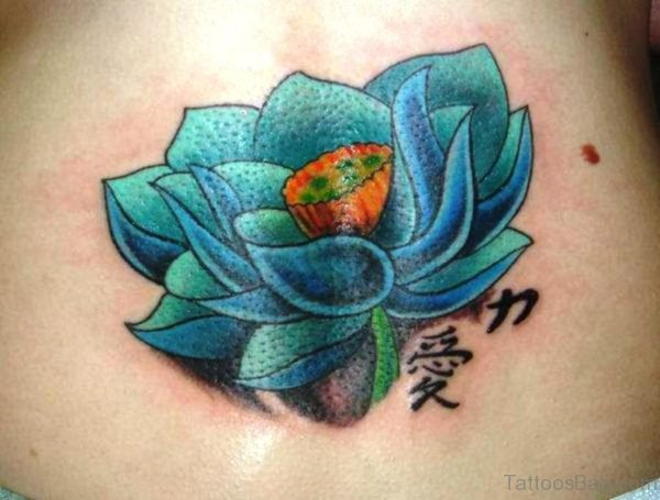 Blue Lotus Neck Tattoo