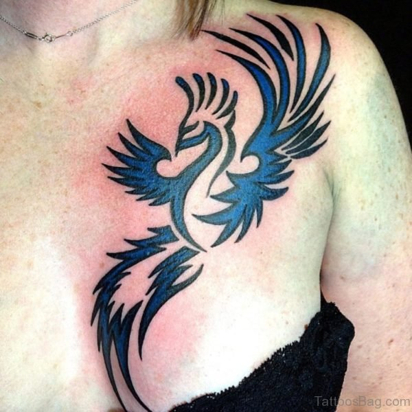 Blue Phoenix Tattoo