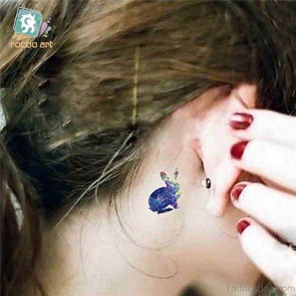 Blue Rabbit Tattoo