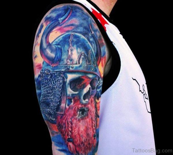 Blue Skull Tattoo